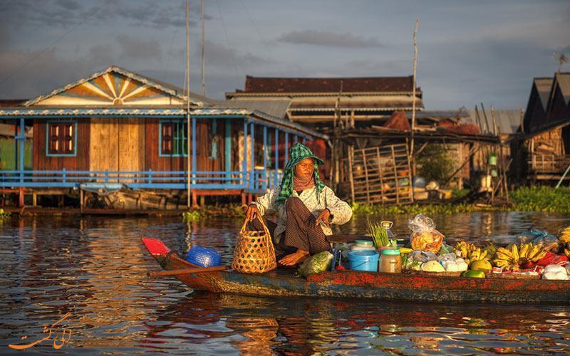 روستاهای شناوری که خیابان هایی پر از قایق دارند!