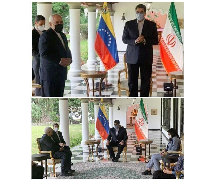 خبرنگاران استقبال گرم و صمیمانه مادورو از ظریف